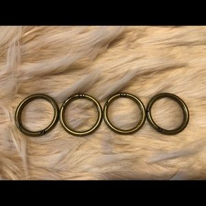 """Miche 1.5"""" Antique Brass carabiners set of 4"""